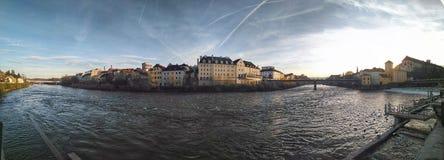 Panorama Steyr Österrike royaltyfria foton