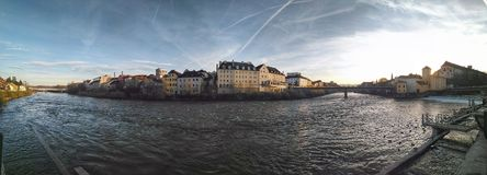 Panorama Steyr Oostenrijk Royalty-vrije Stock Foto's