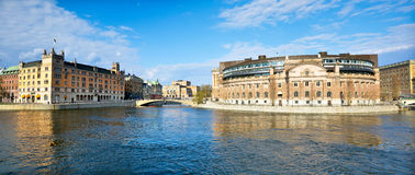 Panorama of Stockholm Royalty Free Stock Photography