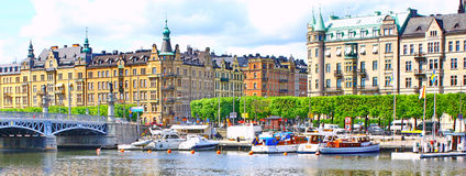 Panorama of Stockholm Stock Photography