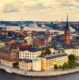 Panorama of Stockholm Stock Image