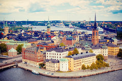 Panorama of Stockholm Royalty Free Stock Image