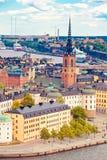 Panorama of Stockholm Royalty Free Stock Photos