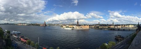 Panorama Stockholm city landscape landmarks Royalty Free Stock Photos