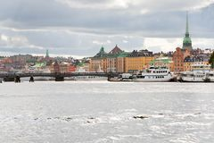Panorama of Stockholm city, Sweden Royalty Free Stock Photos