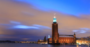 Panorama Stockholm Cityhall Sweden Stock Photo