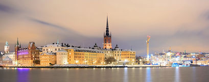 Panorama Stockholm Cityscape Royalty Free Stock Photo