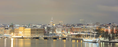 Panorama of Stockholm Cityscape Stock Photography