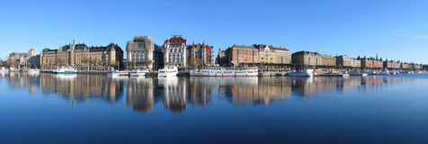 panorama Stockholm duża Obrazy Royalty Free