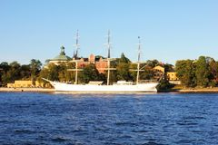 Panorama of Stockholm Harbor Royalty Free Stock Photo