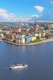 Panorama of Stockholm Old City, Sweden Stock Images