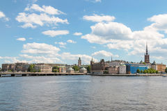 Panorama of Stockholm. Summer panorama of Stockholm, Sweden Royalty Free Stock Photos