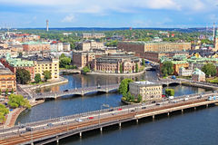 Panorama of Stockholm Royalty Free Stock Photo