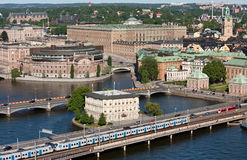 Panorama of Stockholm, Sweden. Panorama of Stockholm  with the Royal Palace, Parliament, the Vasa Museum and other famous building.  Photo has been made from the Stock Image