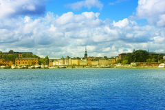 Panorama of Stockholm, Sweden. Panorama of Stockholm Harbor in Sweden Royalty Free Stock Image