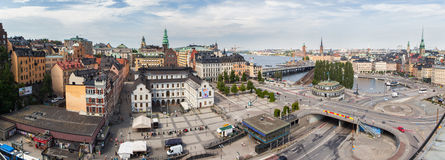 Panorama of Stockholm. Sweden Royalty Free Stock Images
