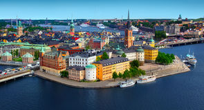 panorama stockholm sweden Royaltyfri Foto