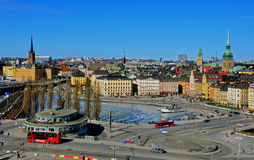Panorama of Stockholm Stock Photos
