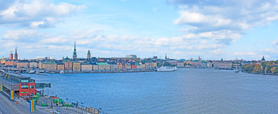 The panorama of Stockholm Stock Images