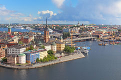 Panorama of Stockholm , Sweden Royalty Free Stock Image