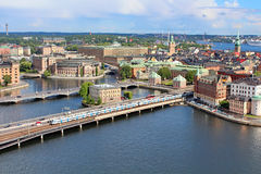 Panorama of Stockholm, Sweden. Panorama of Stockholm in the summer, Sweden Stock Photo