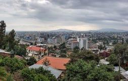 Panorama stolica Etiopia, Addis Ababa obrazy stock