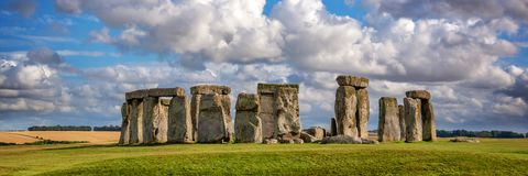 Panorama of Stonehenge United Kingdom. Panorama of Stonehenge, United Kingdom stock photos