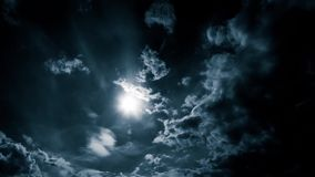 Panorama storm clouds in the sky.  stock footage