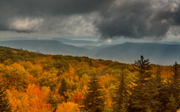 Panorama of stormy hills from Dolly Sods Royalty Free Stock Photo