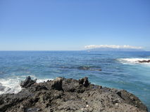 Panorama- strand Ténérifa Arkivfoton
