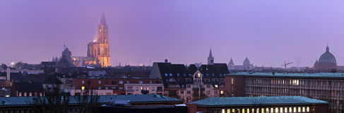 Panorama of Strasbourg Stock Photography