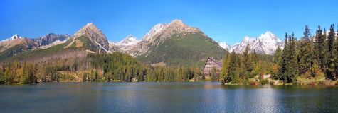 Panorama of Strbske Pleso, High Tatras Stock Images