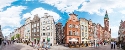 Panorama of street in Gdansk, Poland, Europe. Royalty Free Stock Image