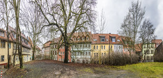 Panorama of street with half timbered houses in Nordhausen. Thuringia, Germany Stock Photography