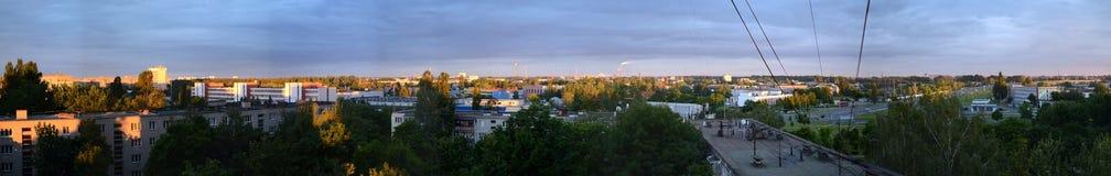 Panorama strefa przemysłowa obrazy royalty free