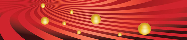 Panorama with stripes and balls Stock Photography