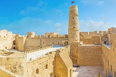 Medieval defensive fortress of Monastir stock images