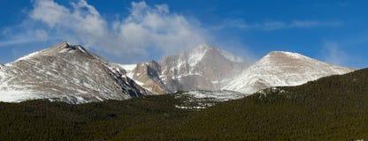 Panorama strzał Long szczyt w Kolorado Obrazy Stock