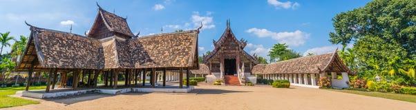 panorama strzelał Wat tona Kain w Chiang Mai Tajlandia, obraz stock