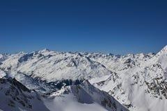 Panorama Stubai Glacier Stock Photography