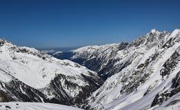Panorama Stubai Glacier Stock Photo