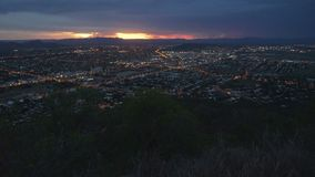 Panorama of stunning sunset over Townsville, Queensland, Australia stock footage