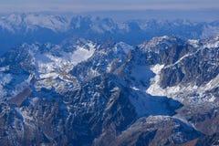 Panorama stupefacente dalle alpi dello svizzero di paradiso del ghiacciaio del Cervino Immagini Stock Libere da Diritti