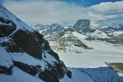 Panorama stupefacente del supporto il Cervino coperto di nuvole, alpi, Svizzera Fotografia Stock Libera da Diritti