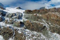 Panorama stupefacente di inverno alle alpi svizzere Fotografie Stock Libere da Diritti