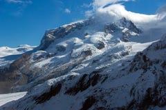 Panorama stupefacente di inverno alle alpi svizzere Fotografia Stock Libera da Diritti
