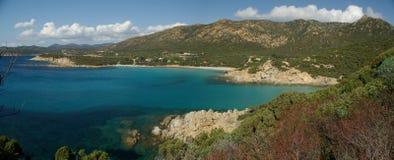 Panorama stupefacente - spiaggia di Perdalonga - la Sardegna Fotografie Stock Libere da Diritti