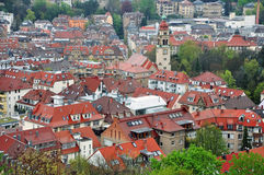 Panorama of Stuttgart. Royalty Free Stock Image