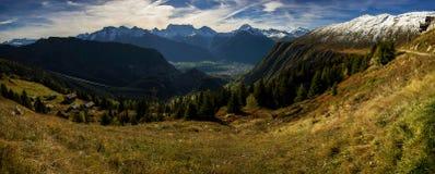 Panorama suíço das montanhas Imagens de Stock