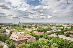 Panorama of Subotica stock photo
